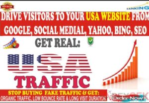5068I WILL BRING UNLIMITED ORGANIC TRAFFIC FROM USA WITH LOW BOUNCE RATE
