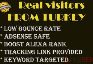 5105real human 10000+ traffic from turkey