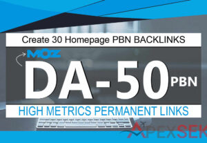 5171Create 30 Homepage PBN Backlinks High-Quality DA 50 Plus